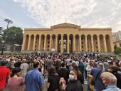 Смерть журналиста в Грузии: сотни людей собрались на акции протеста в центре Тбилиси
