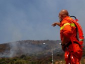 Лесной пожар вспыхнул на восток от Рима, местных жителей эвакуируют
