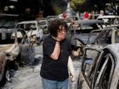 Пожар возле Афин продолжается: погиб человек, на которого упал электрический столб