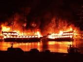 В Турции сгорело 4 экскурсионных судна: люди прыгали в воду, чтобы спастись