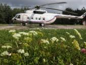В России упал вертолет с 16 людьми на борту