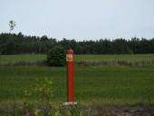 В Беларуси возбудили дело по факту повреждения знака с гербом на границе с Украиной, который обстреляли ранее